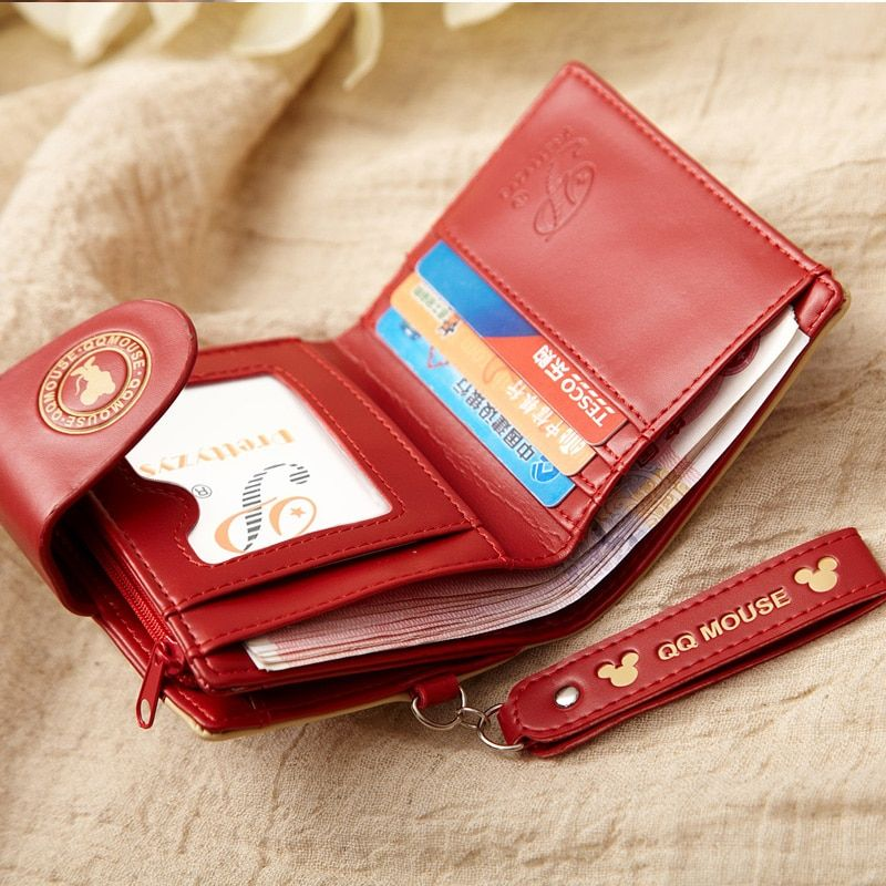 Women Small Wallet Mickey Minnie Qq Mouse Cute Coin Purse Card Holder Female Women S Wallets Women S Accessories