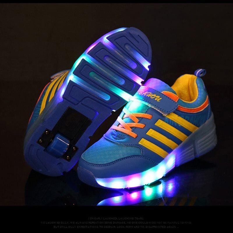 Light Up Glowing Roller Sneakers | eBay