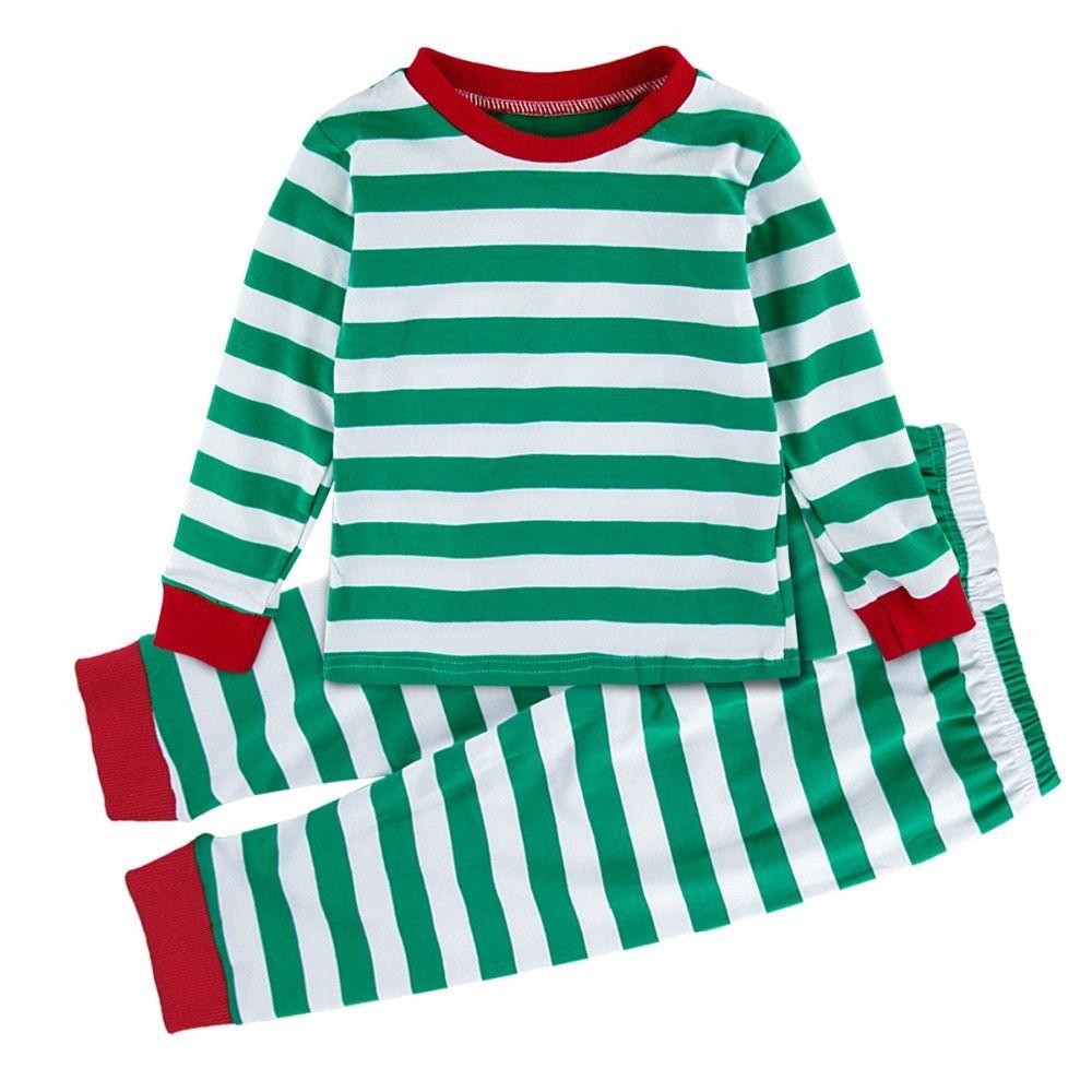 Boys Christmas Pajamas.Long Boys Sleeves Sets Long Claus Santa Pajamas Kids