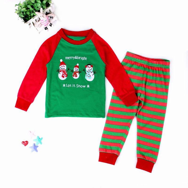 Christmas Pajamas Set Cartoon Kids Boys Girls Toddler Sleepwear Children  Clothes    5ac2005cc
