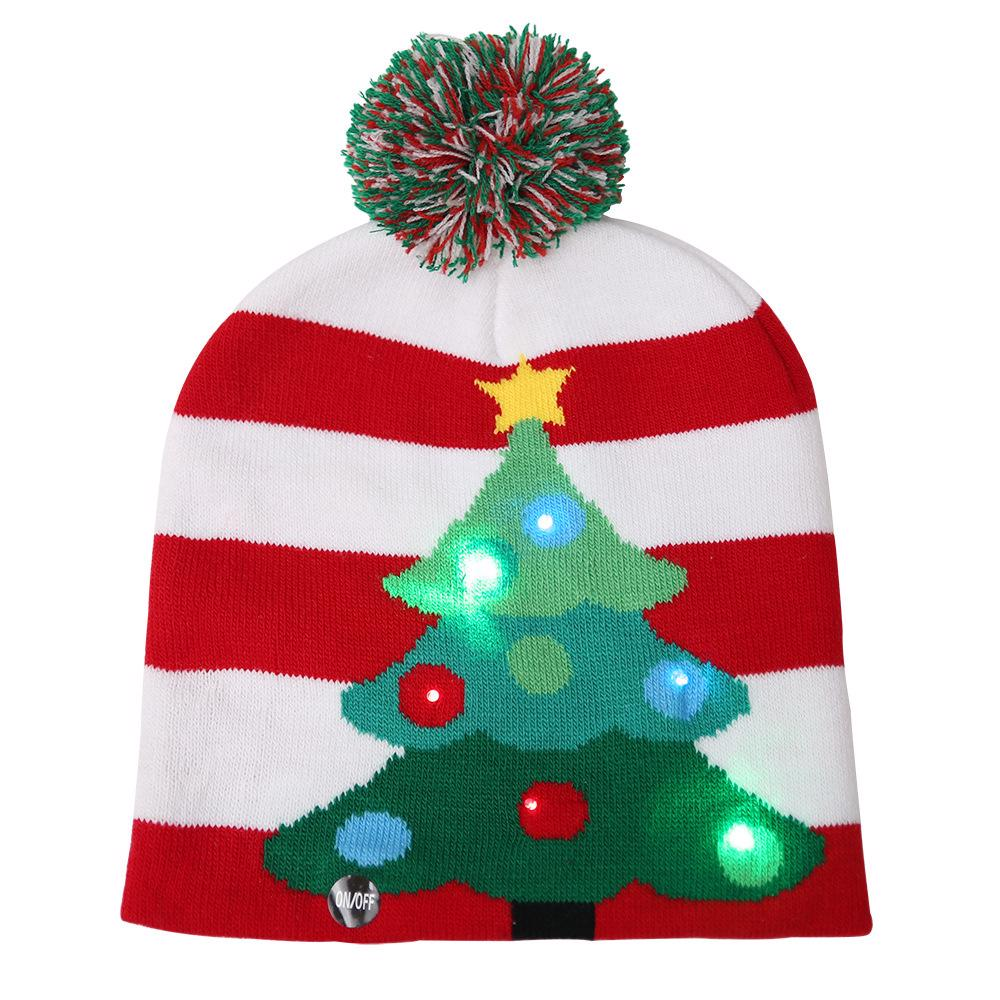 Christmas Hats For Kids.Details About Christmas Hats Knitted Santa Led Luminous Kids Adults Children S Xmas Caps Party