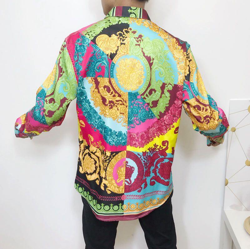 5 Very Sache Type Fashion Luxury Shirt  Men Baroque Floral hawaiian Aloha Print