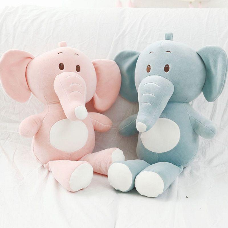 Cute Soft Animal Cartoon Plush Blanket Towel Baby Infant Pink Elephant Toy Gift