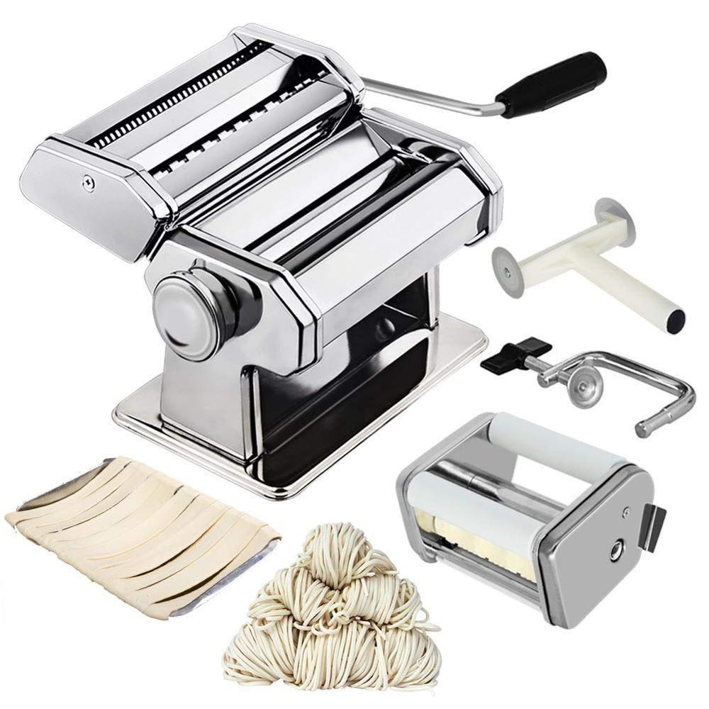 Máquina De Macarrão Massas Máquina De Aço Inoxidável Nudeln Lasanha Talharim Espaguete Ebay