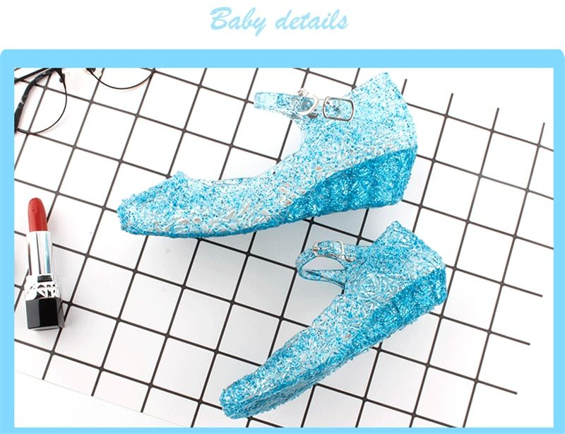 Shiny Toddler//Little//Big Kid Cinderella Princess Butterfly Low-Heel Dress-up Party Shoes