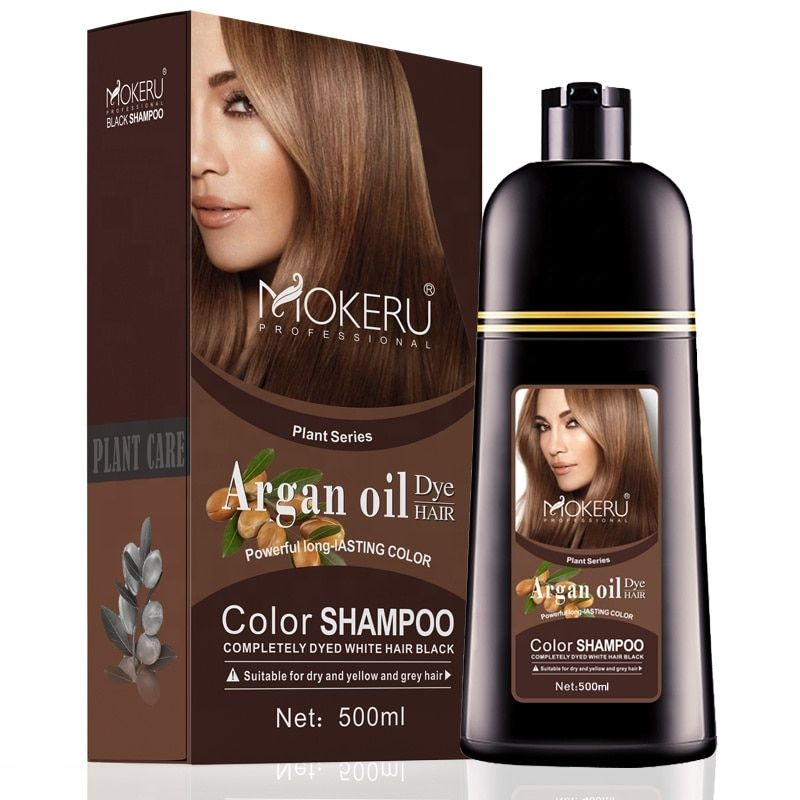 Details about Natural Shampoo Long Lasting Hair Dye Color Permanent Colour  500ML Cover GreY o