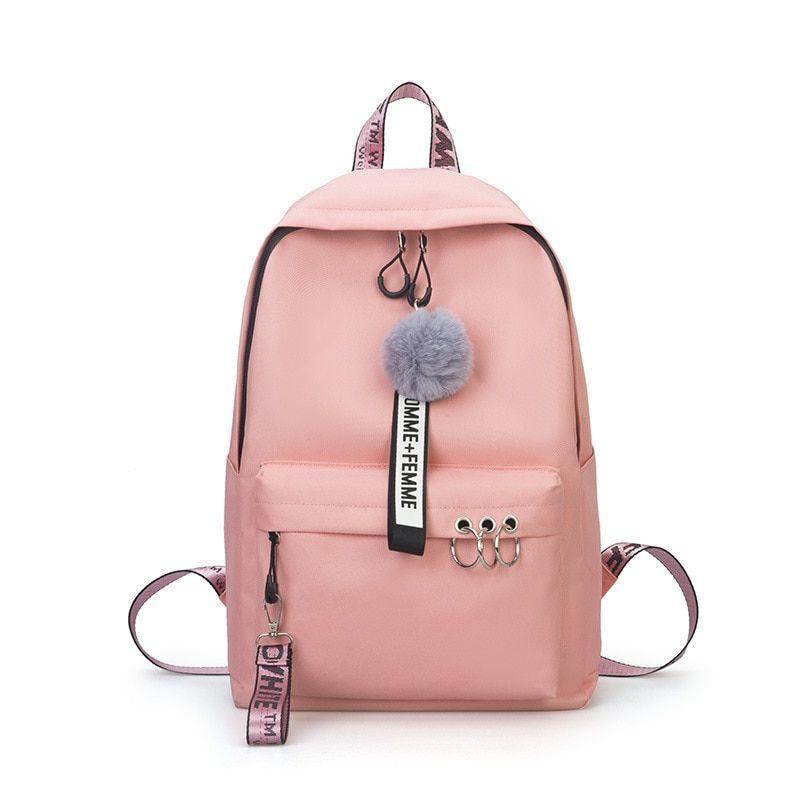 Stylish Backpack Teenagers Girls Women Bag Ladies Canvas School Bookbag 2020