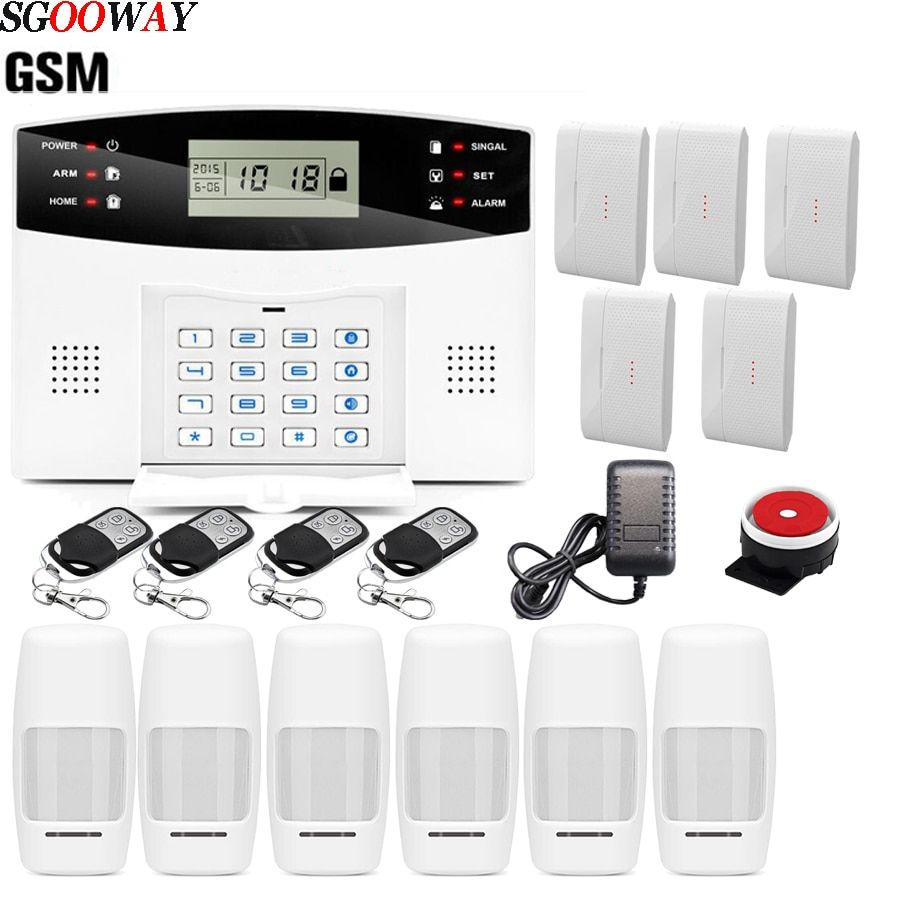 Free Shipping Sgooway Wireless Home Security Gsm Alarm System Remote Control Aut Ebay
