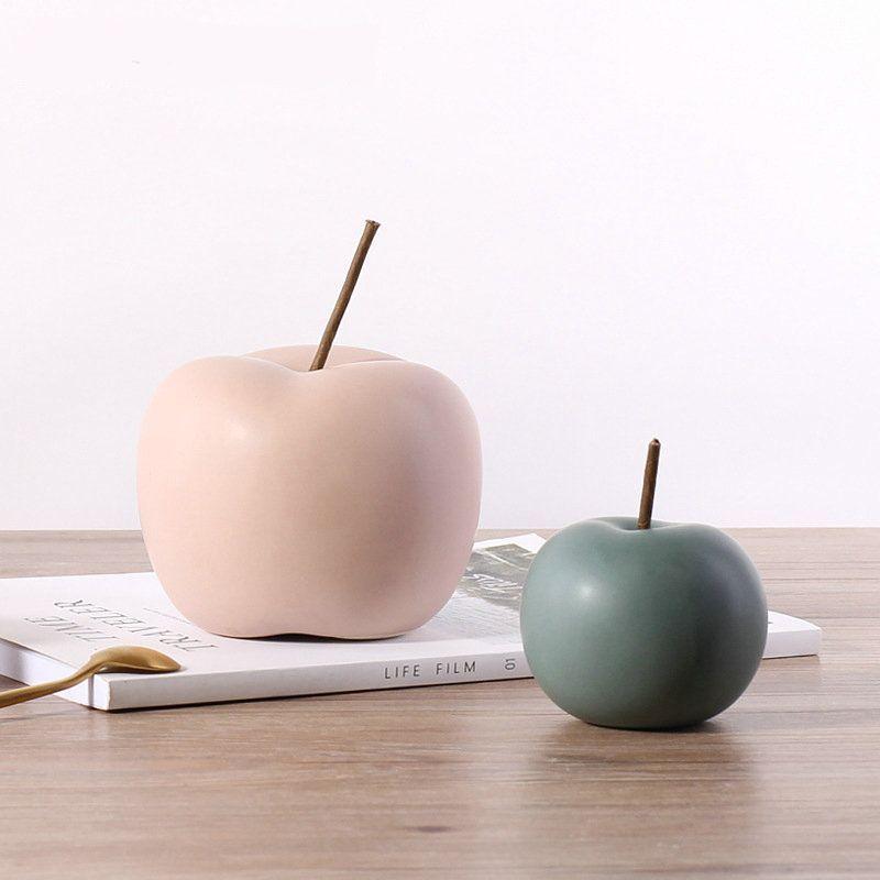 Modern Ceramic Abstract Apple Figurines Decorative Ornament Home Decor Statuette Ebay