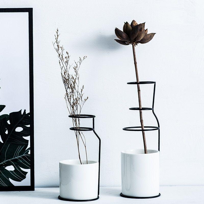 Modern Design White Ceramic Flower Vase Table Vases Home Decoration Accessories Ebay
