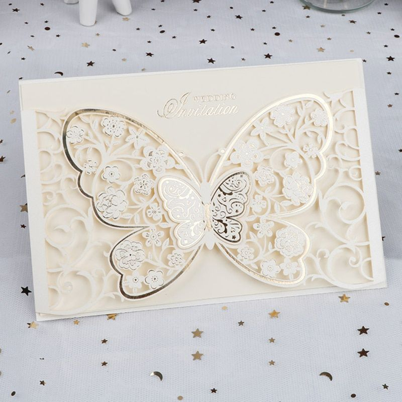 Laser Cut Wedding Invitations Card Greeting Cards Wedding Party Favor Supply New