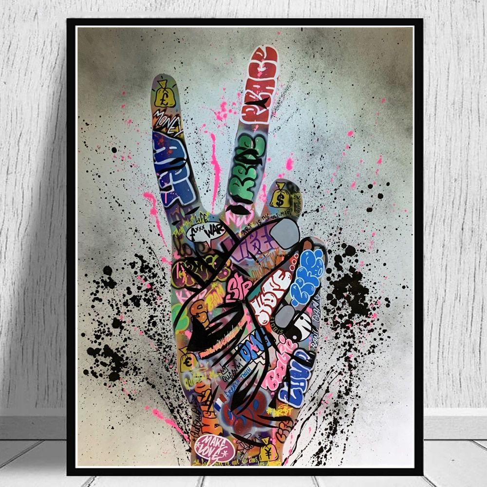 Poster And Prints Graffiti Street Art Canvas Wall Painting Decor For Living Room Ebay