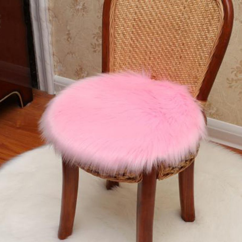 Soft Plush Seat Cushion Fur Fuzzy Fury Hairy For Office