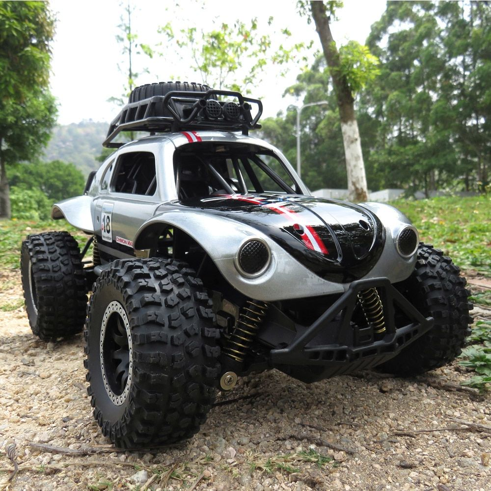 """4x RC 1:10 Car Rock Crawler 1.9/"""" Silver Wheel Rim Blue Aluminum Beadlock 4035"""