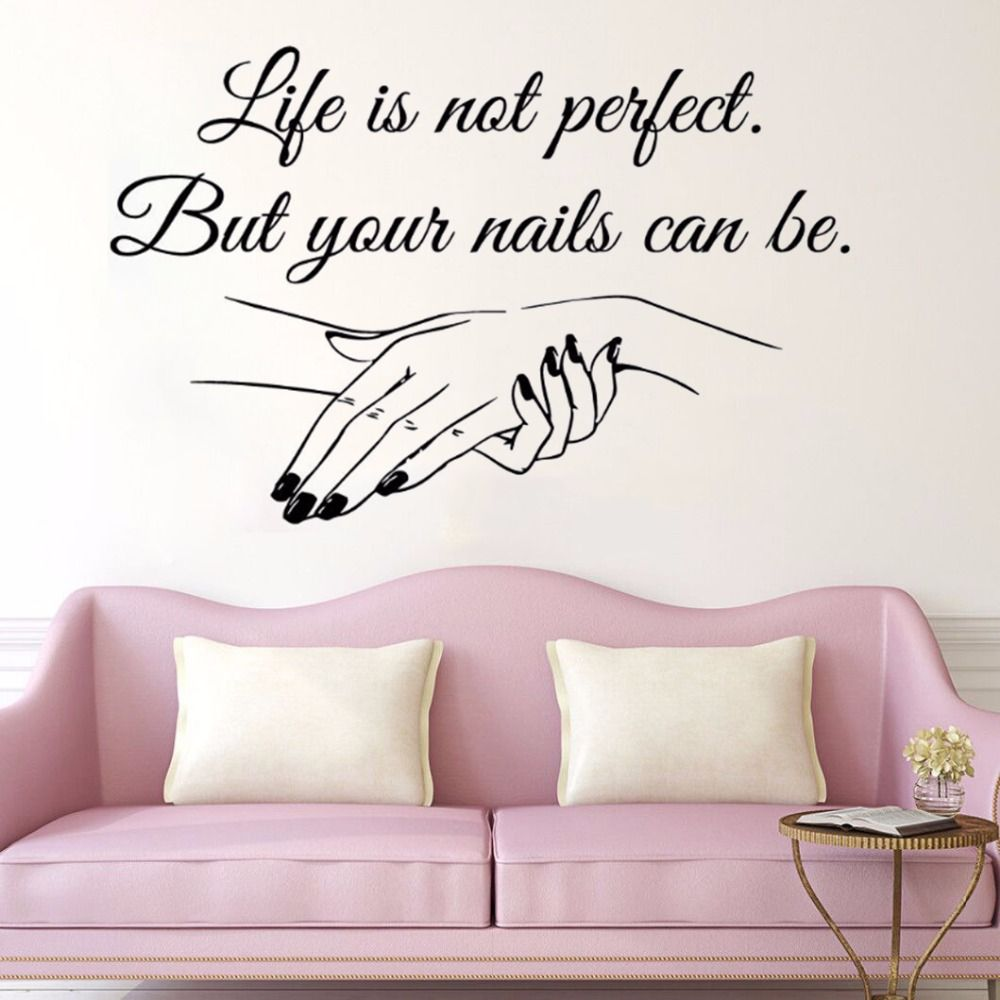 Vinyl Decal Nail Salon Quote Wall Sticker Nail Polish Wall Mural Beauty Salon Ebay
