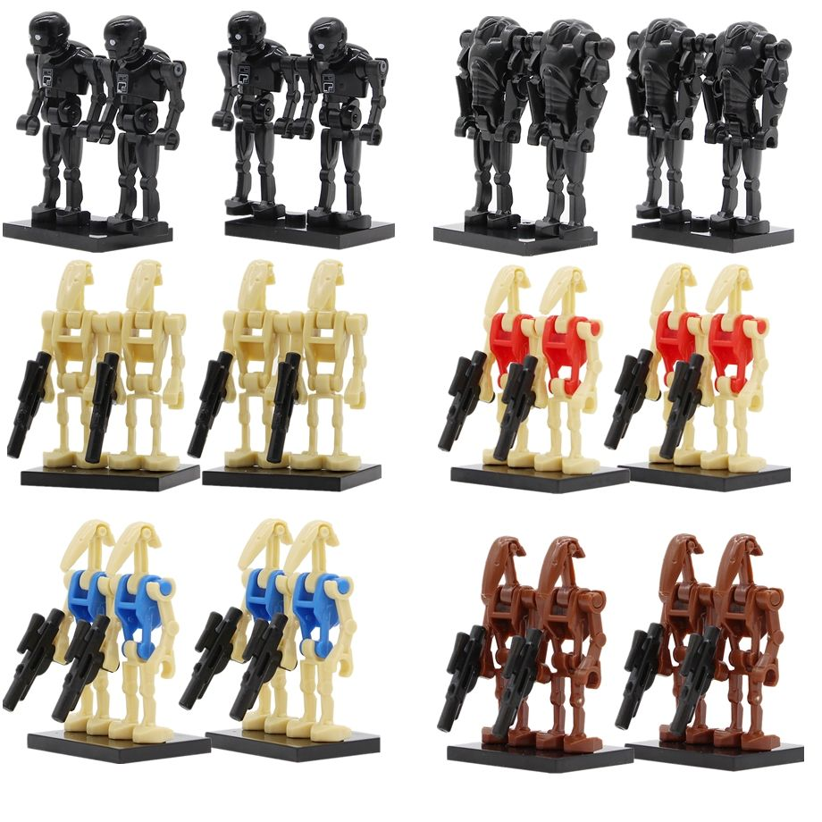Star Wars Battle Droid Ro-Gr K2So 100Pcs//Lot Lego Figures Starwars Minifigures