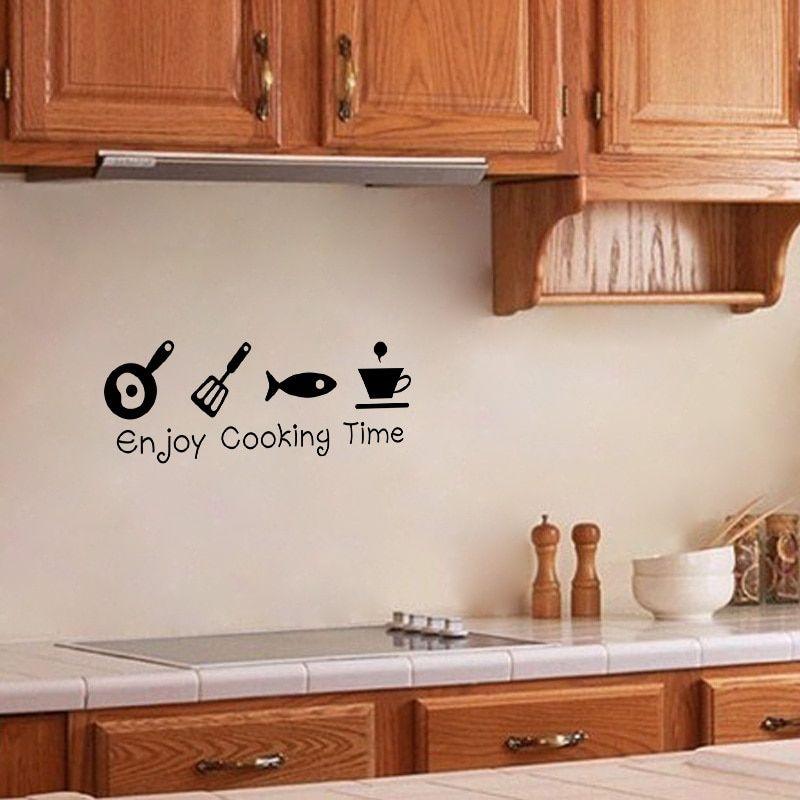 Wall Stickers Diy Sticker Decal Vinyl Art Black Decor For Home Kitchen Decals Children S Bedroom Words Phrases
