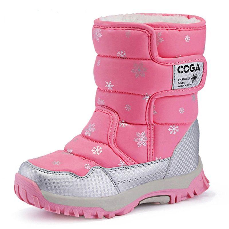 e7ed1ae8d829 Girls Boots Children Shoes Winter Booties Girls Sport Child Snow ...