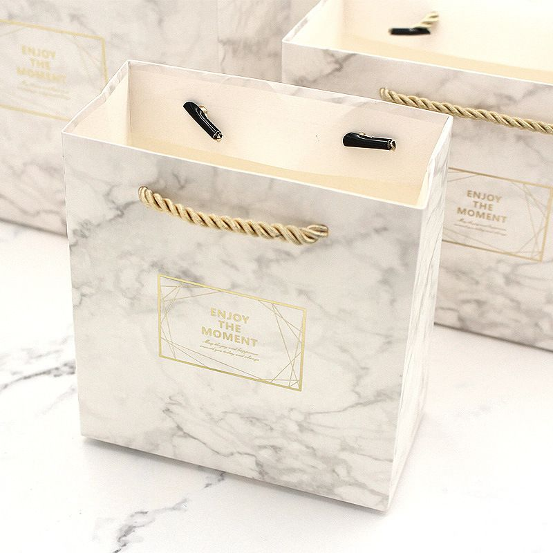 Details About Gift Bags Small Box Marble Color Vintage Wedding Birthday Holiday Party Paper