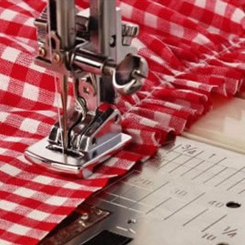 Sliver Rolled Hem Curling Sewing Presser Foot For Sewing Machine Singer JanomeYR
