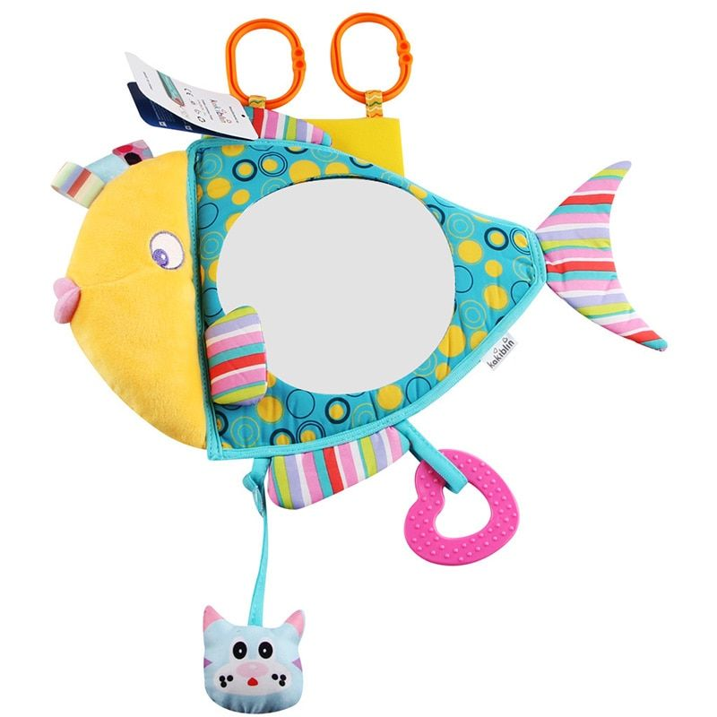 Cartoon Wide View Rear Safety Seat Baby Mirror Headrest Mount Rear Facing Mirror