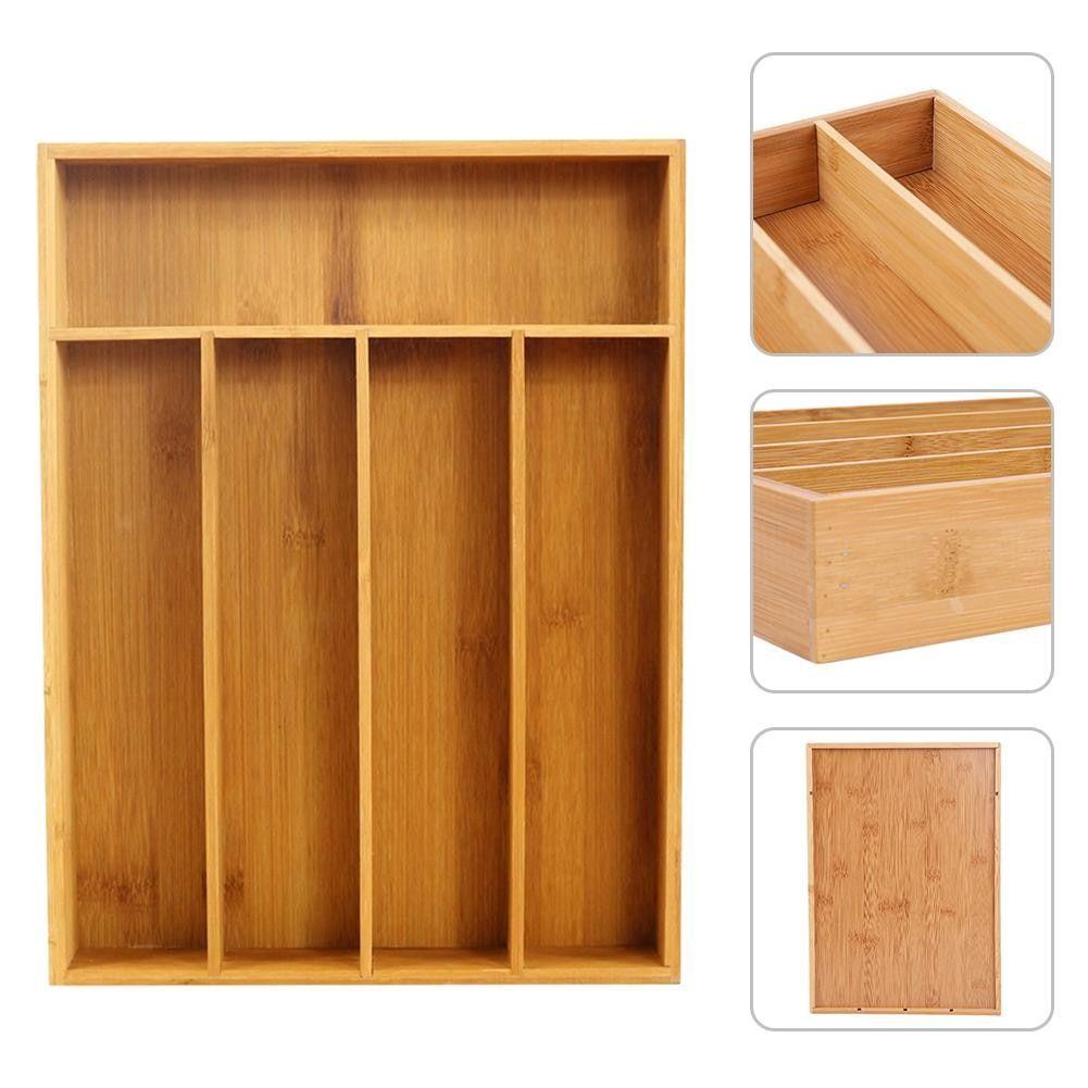 Kitchen Cutlery Storage Tray Drawer Organizer Wooden ...