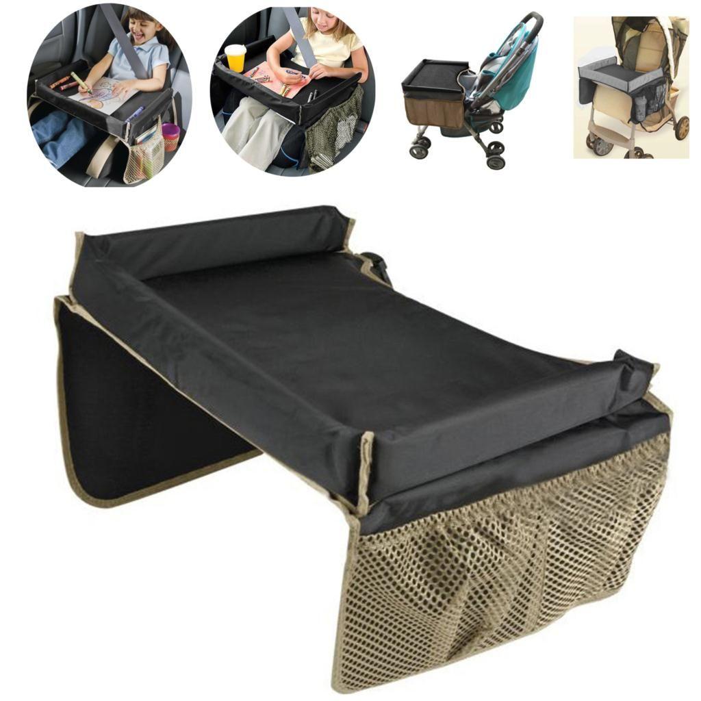 HQ Baby Rainproof Stroller Desk Holder Kids Snack Play Car Seat Travel Tray New