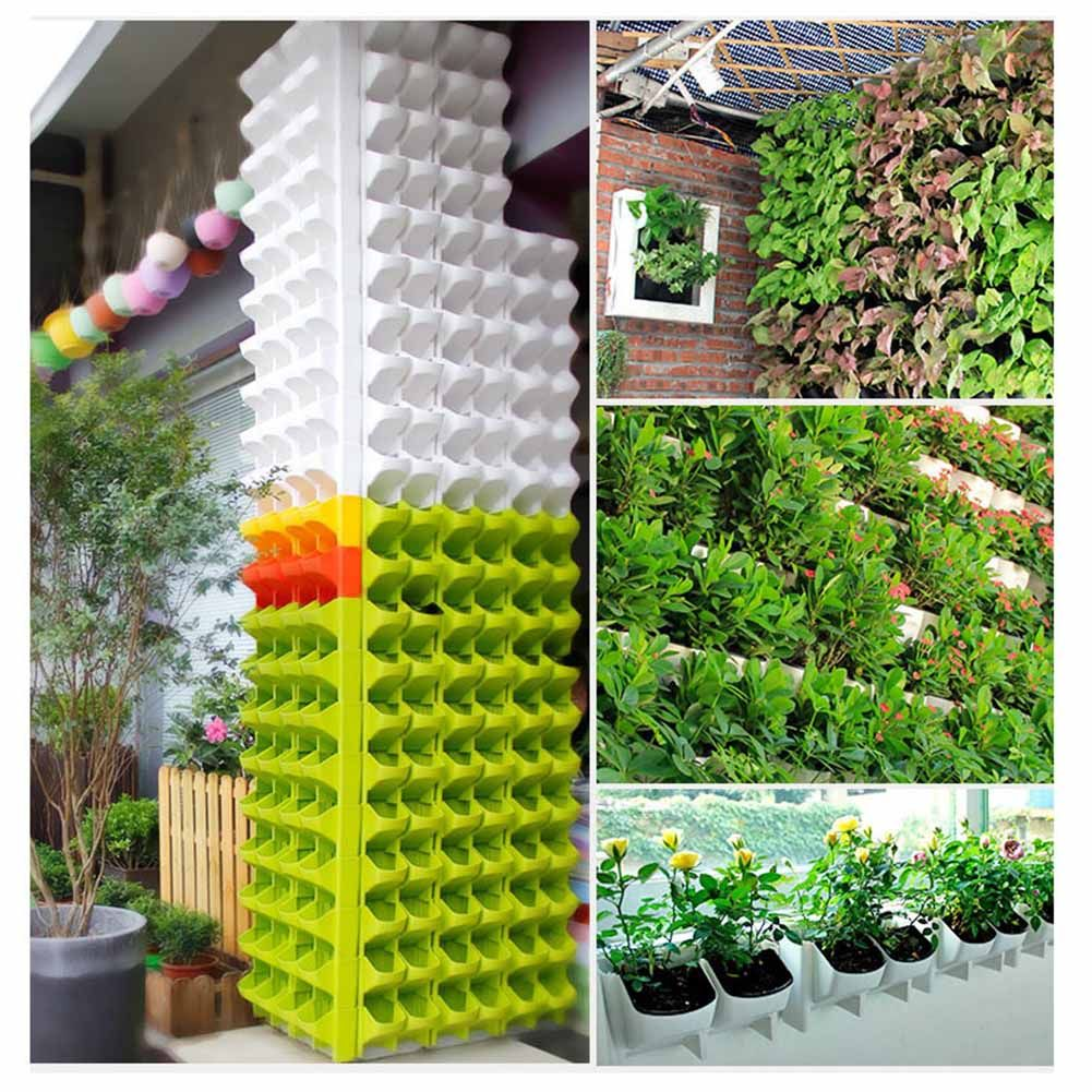 Self Watering Flower Pots Stackable Wall Mounted Vertical Planter