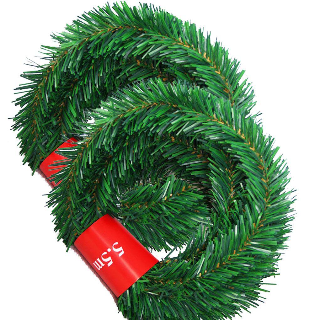 36 Feet Christmas Garland, 2 Strands Artificial Pine Garland Soft Greenery Garland for Holiday