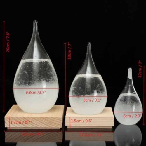 Weather Forecast Crystal Storm Glass Home Decor Christmas Gift