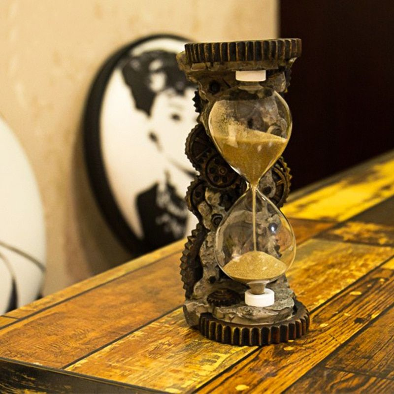 Vintage Hourglass Home Decoration Gear Antique Retro Nautical Decor Creative