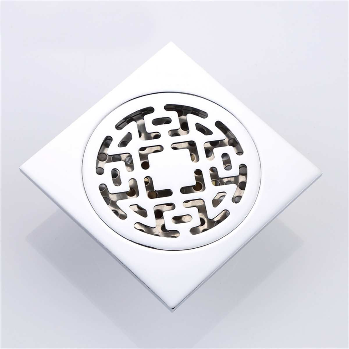 Shower Drain Cover Hair.Details About Stainless Steel Square Shower Drain Cover Bathroom Floor Strainer Hair Catcher