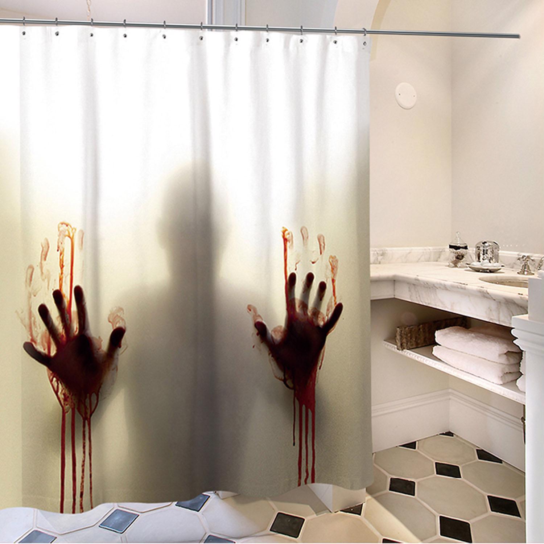 Halloween Props Scary Shadow Bloody Hand Waterproof Bathroom Shower