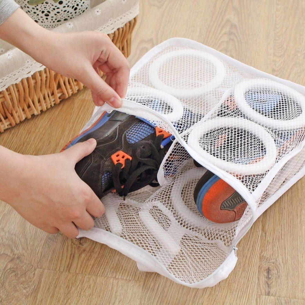 Organizer Shoes Laundry Storage Mesh Dry Bags Bag Washing Portable Shoe Wash N3