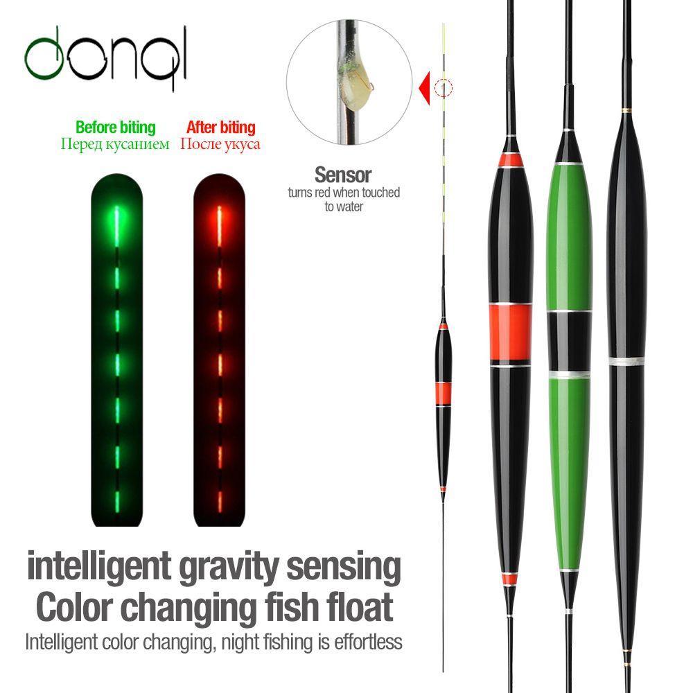 1Pcs LED Electronic Fishing Float Balsa Wood Lighting Bobber Luminous Glow