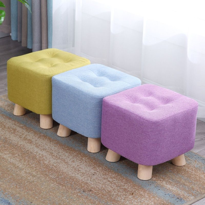 Details about Sofa Stool Home Kids Bench Fabric Footstool Bedroom Foot  Small Chair Footrest