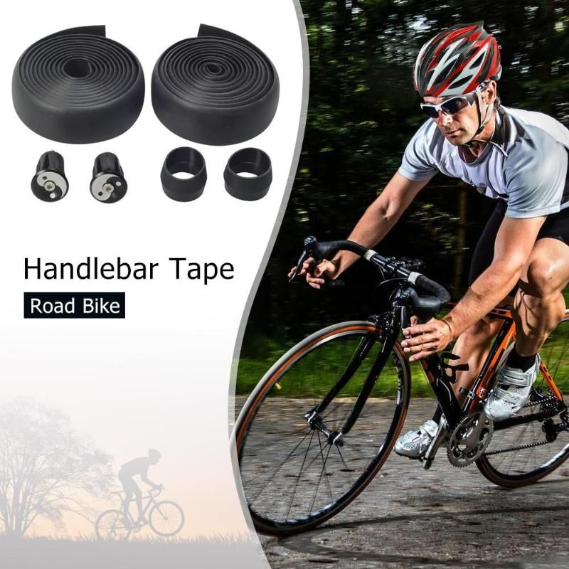 2 PCS Bicycle Handlebar Tape Road Bike Cycling Handle Non-slip Belt Rubber Tape