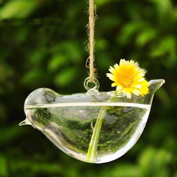 Clear Glass Heart-shape Flower Plant Vase DIY Decorative Terrarium Container