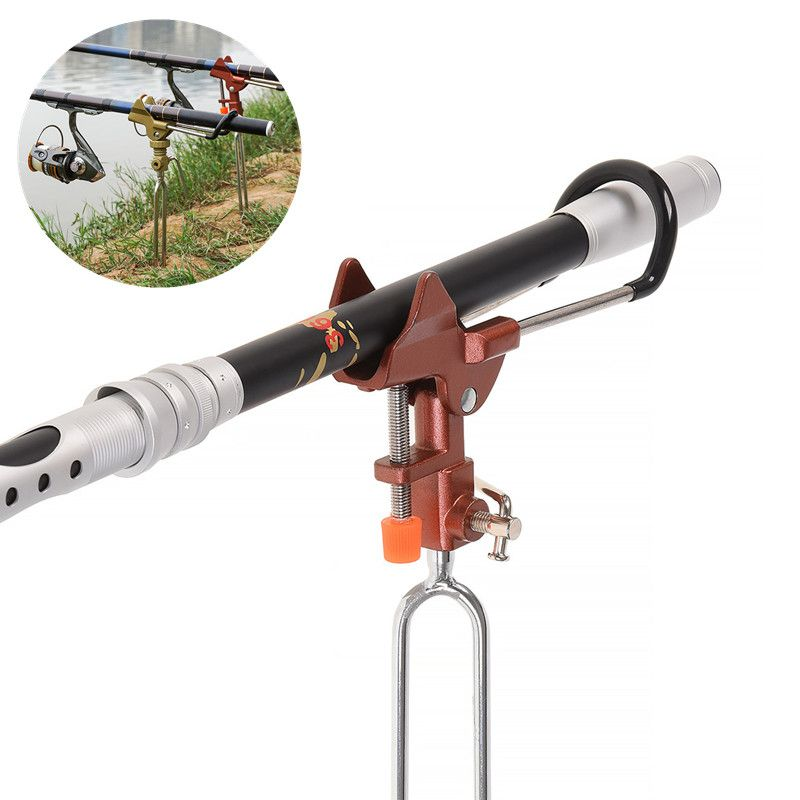 UK Outdoor Fishing Rod Pole Stand Holder Rest Bracket Adjustable Telescopic