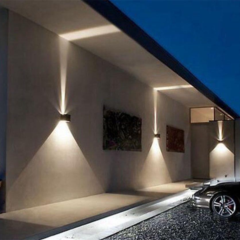 Wall Light Adjustable Outdoor Lighting Square Black White ...