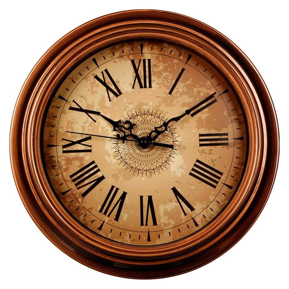 Wall Clock Roman Numerals Home Vintage Decor Watch Kitchen