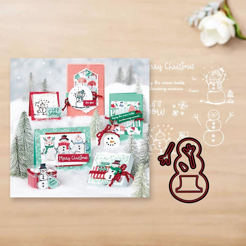 Christmas Party Dies Card Making for DIY Scrapbooking Album Paper Card Crafts