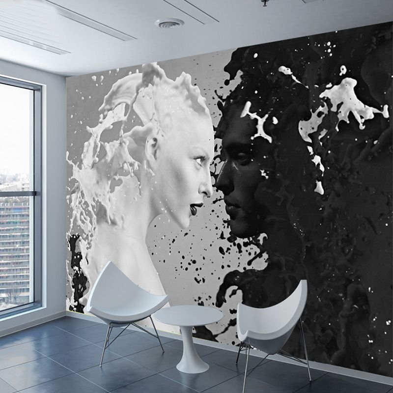Photo Custom Bedroom Lover Shop Cafe White Milk Living Room Wall Walls Papel Black Murals Roll Wallpapers Parede 0