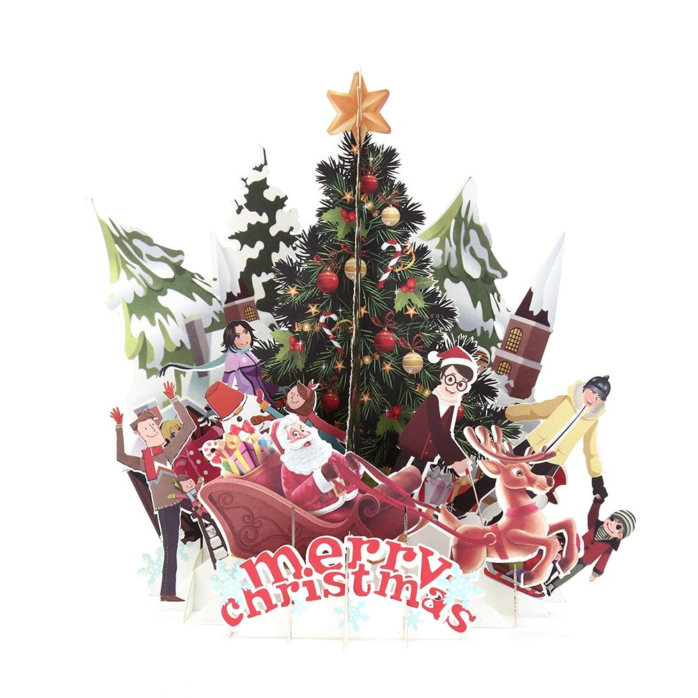 Christmas Greeting Card Making.Details About 3d Pop Up Christmas Cards Origami Paper Postcards Gift Greeting Card Handmade