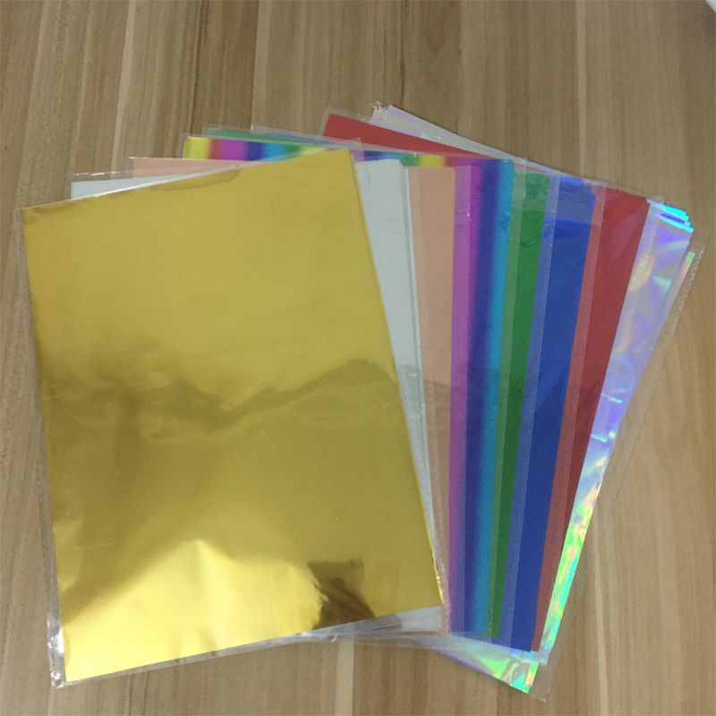 50pcs Foil Transfer Sheets Laminating Craft Hot Stamping Laser Printer A4 Paper