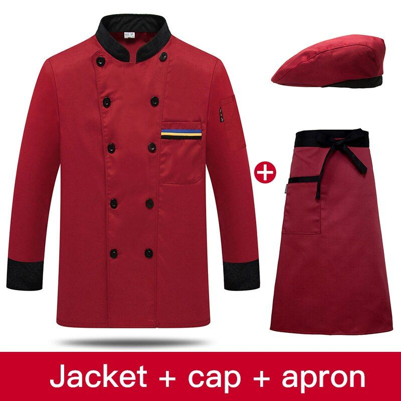 Details About Chef Jacket Uniform Hotel Restaurant Service Waitress Shirt Cook Work Uniforms