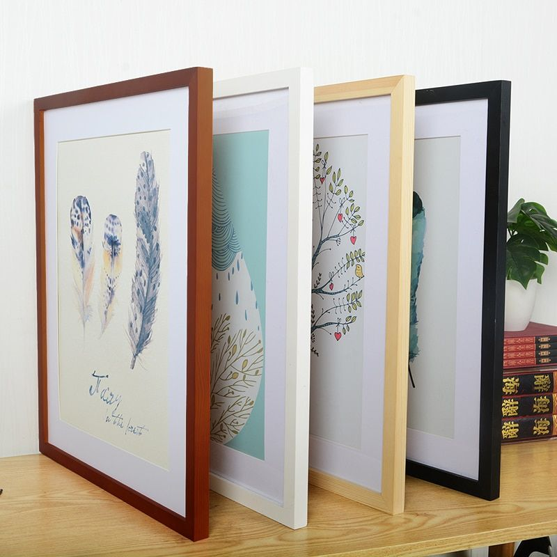 A4 A3wooden Frame Black White Color Photo Frames For Wall Art Picture Wood Frame Ebay
