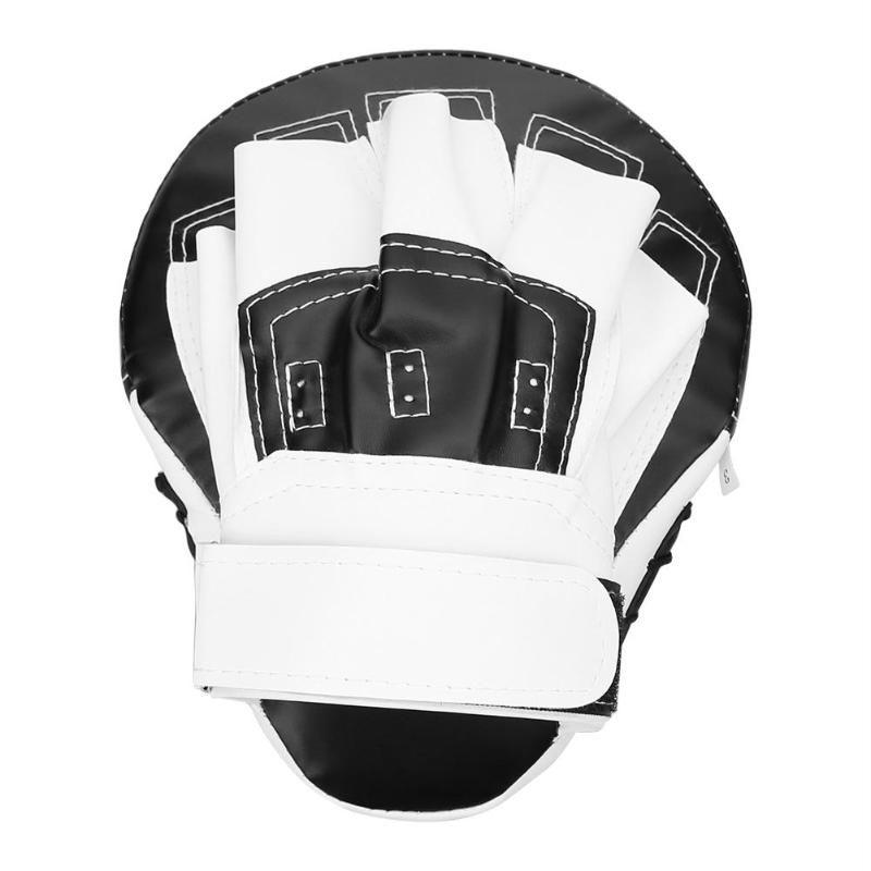 Hand Target Kick Pad Kit Black Training Focus Punch Pads Sparring Boxing Bags pa