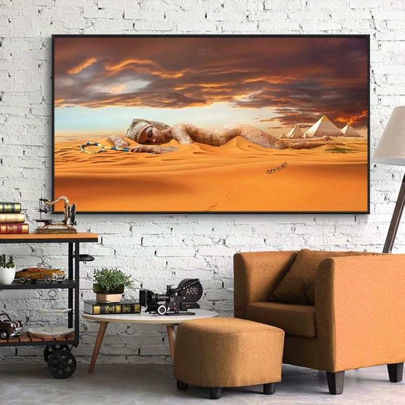 Nude Muse Reflecting Canvas Print / Canvas Art by Allen Kerns