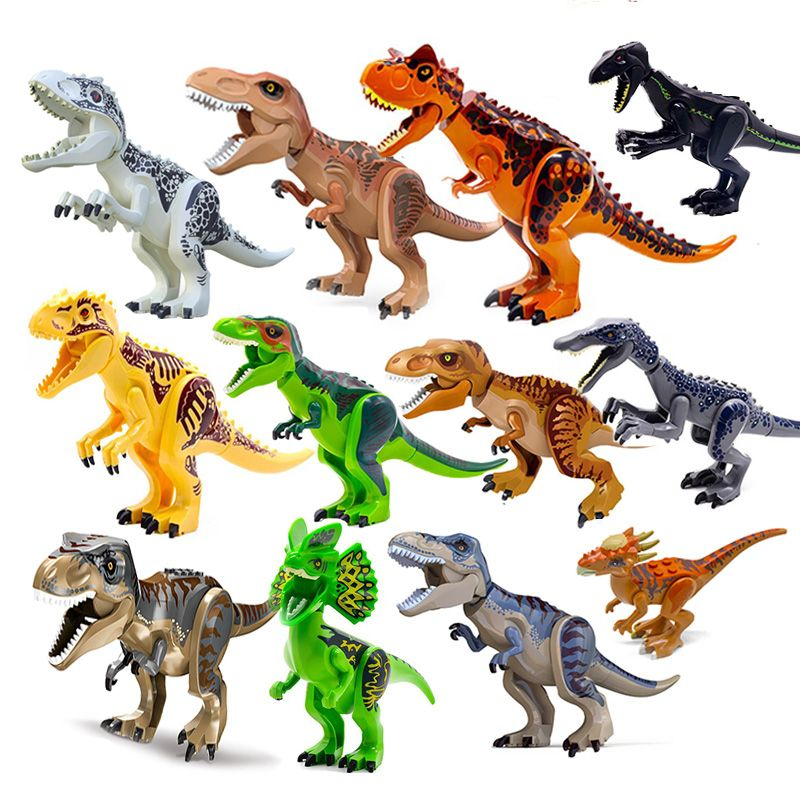 High Quality Dinosaurs Jurassic World Custom Lego Mini Figures Dino Toys Kids Ebay This set of 12 dinosaurs comes with a book that highlights facts about each type including habitat, diet, size, and more. details about high quality dinosaurs jurassic world custom lego mini figures dino toys kids